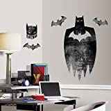 RoomMates RMK3114TB Batman Silhouette Peel and Stick Giant Wall Graphic
