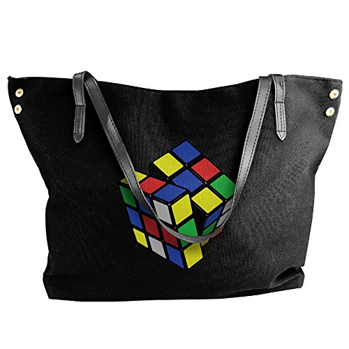 Ladies Rubix Cube Large Tote Bags,canvas Bags,shoulder Handbags