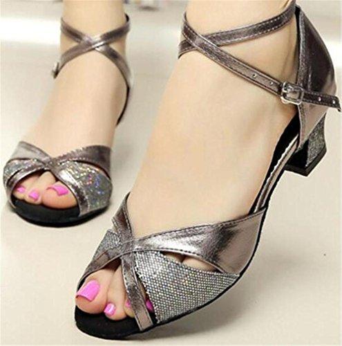 de Zapatillas Taogo latín mujer a Tamaño PU baile ResplandecerSalón 35 Zapatos 41 de Baile fqw6q