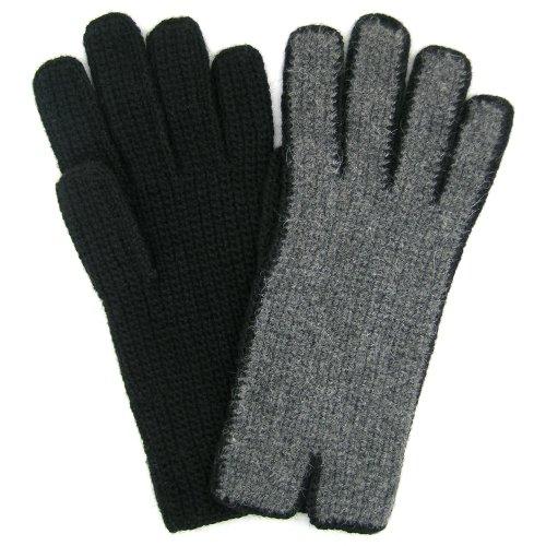 アルパカ手袋手カギ針編みボリビアフェアトレード100 %アルパカソリッドカラー – チャコール