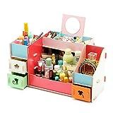 Zehui Cosmetic Makeup Box DIY Wood Beauty Organizer Removable Storage Drawers Jewelry Case Multi Box