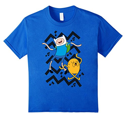 Kids Cartoon Network Adventure Time Finn Jake Dancing T-Shirt 10 Royal Blue (Time T-shirt Youth Big)