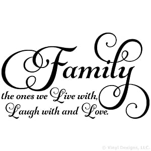 Family The Ones We Live With Laugh With And