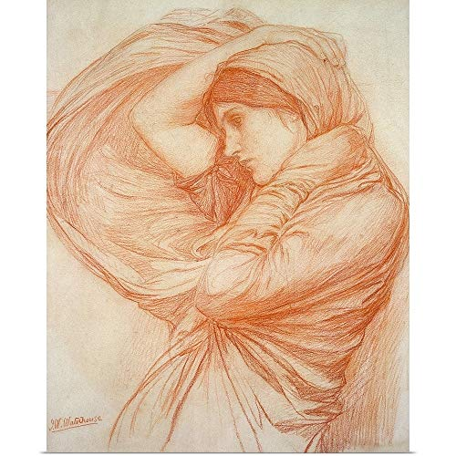 "GREATBIGCANVAS Poster Print Entitled Study for Boreas by John William Waterhouse 19""x24"""