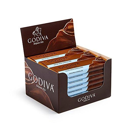 Godiva Chocolatier Belgium Milk Chocolate Bar Gift, 24 Count