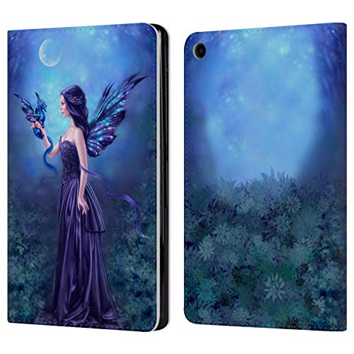 Official Rachel Anderson Iridescent Fairies Leather Book Wallet Case Cover Compatible for Amazon Fire HD 8 (2017) / (2018)