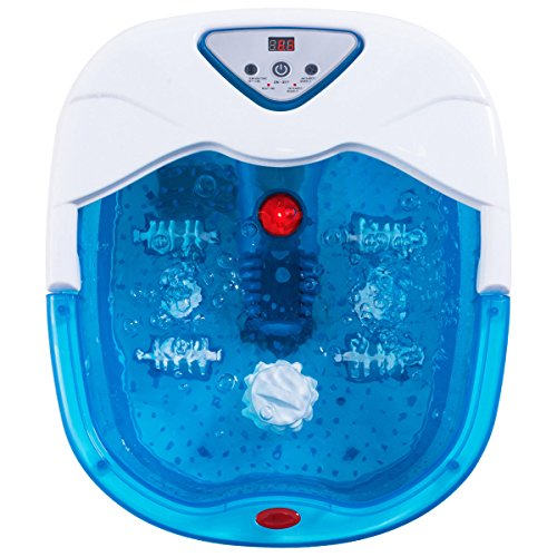 - Giantex Portable Foot Spa Massager Heated Bath w/Heating Infrared Ray LCD Display Temperature Control Bubbles Home Use Health (Blue)