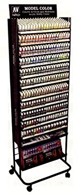 Vallejo Acrylic Paints 1000 Model Color Full - Range Paint Deal With Rack
