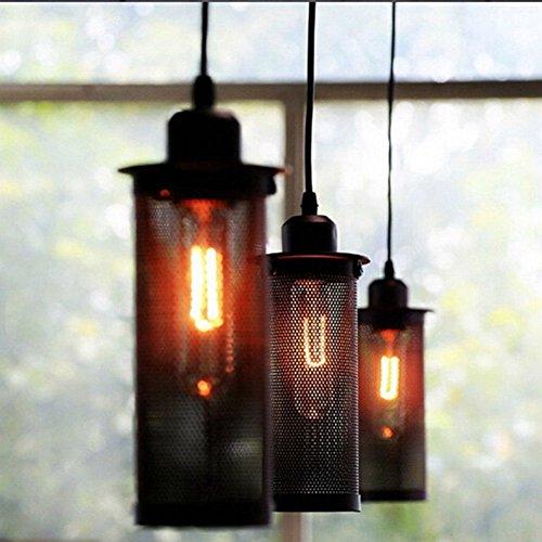 Explosion Proof Lighting (Pendant Light, MKLOT Ecopower Edison Minimal Vintage Retro Industrial style Wrought Iron Single Head Cage NET Explosion Proof Lamp Chandelier Creative Lighting Fixture)