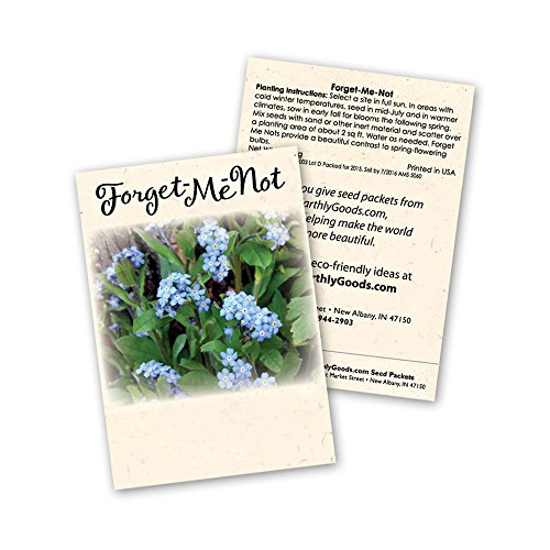 Me Not Forget Packets Seed (Forget Me Not Seed Packets, Set of 25)