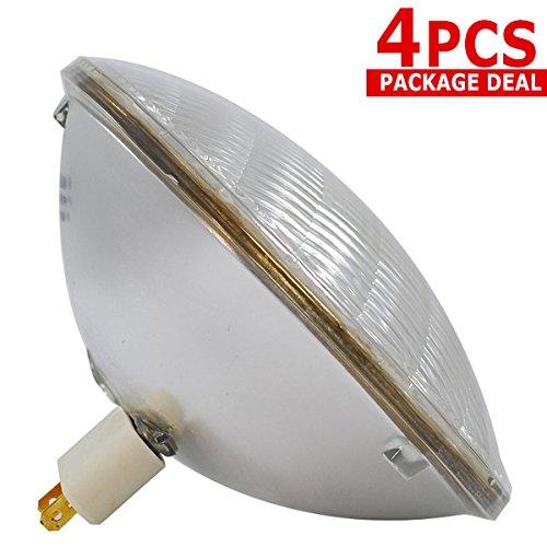 120v Par 64 Medium Flood (4 x MFL 1000W lamp PAR 64 1000 PAR64 CAN FFR bulb light)