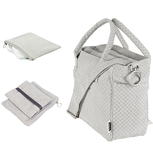 MoBaby Carrera, Chic Plush Diaper Bag Tote, Travel Accessories Included: Comfortable Baby Changing Mat & Essentials Clutch Pouch (Light - Gucci Car Sale Accessories