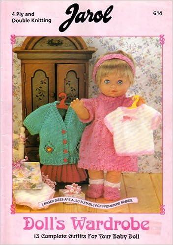 Jarol Dolls Wardrobe Dolls Clothes Knitting Pattern Booklet 13