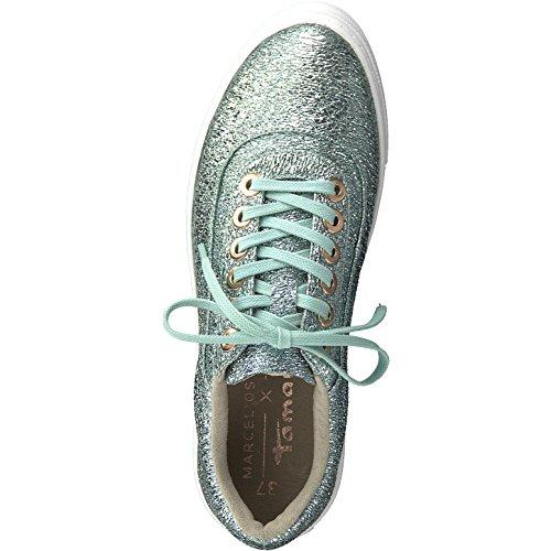 Tamaris Damen Sneaker Mint von Größe 37 bis 41 mit Touch-It Fußbett Grün