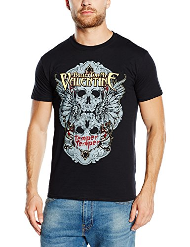 Winged Skull T-shirt - Bullet For My Valentine Men's Winged Skull T-shirt Medium Black