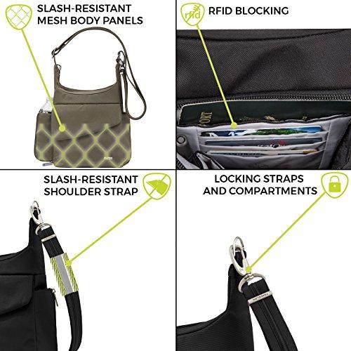 51GihdYrQ2L - Travelon Anti-Theft Classic Messenger Bag, Nutmeg