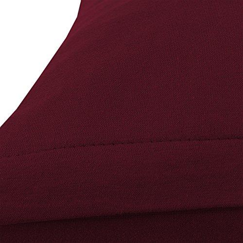 SHC Textilien Conjunto de Dos Fundas de Almohada, Funda de Almohada, Fundas 100% algodón con Cremallera - 15 Colores y 5 tamaños 40x60 cm Burdeos/Rojo ...