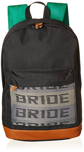 7eeef48a99e JDM Bride Racing Backpack brown bottom with Green Tk Racing Harness  Shoulder Straps Super Cool NEW