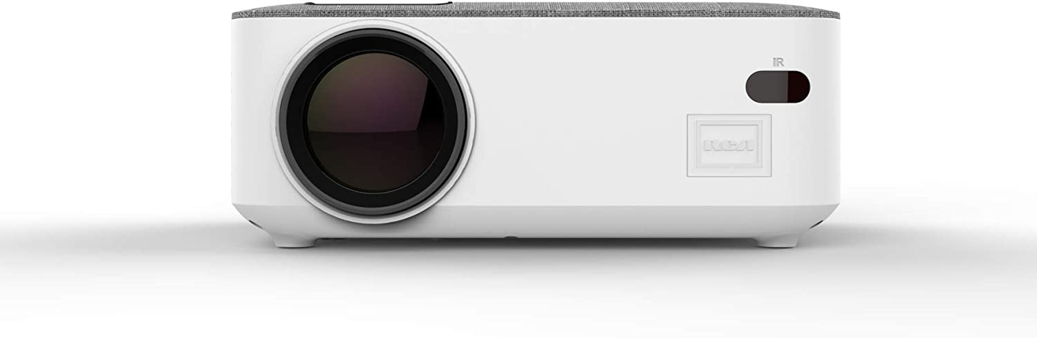 RCA RPJ143-WHITE 480p Home Theater Projector Supports 1080p w/HDMI & Bluetooth 5.0