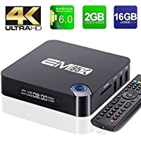 2GB/16GB EM95X TV Box SUPVIN Android 6.0 TV box Amlogic S905X Quad Core, Unique OTA Bluetooth 4.0 Streaming media player Support True 4K Playing