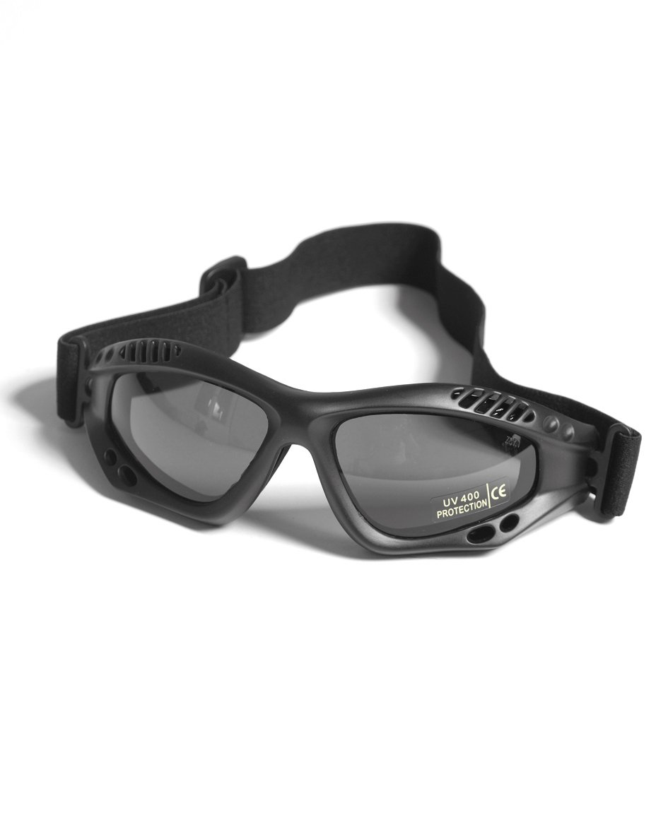 Army Tactical Commando Air Pro Goggles Airsoft Tinted Black Mil-Tec 15615302