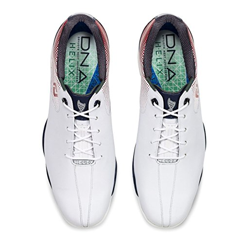 Footjoy D.N.A Helix Schuh Herren weiß/rot/blau EU 46