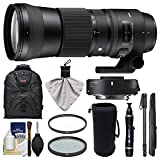 Sigma 150-600mm f/5.0-6.3 Contemporary DG OS HSM Lens & 1.4x Teleconverter + Backpack + Lens Pouch + Monopod + 2 Filters Kit for Canon EOS DSLR Camera