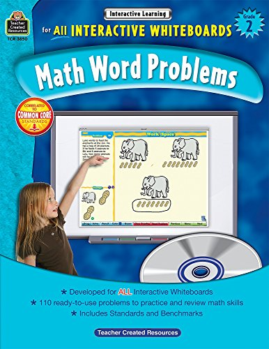 (Math Word Problems for all Interactive Whiteboards, Grade 2)