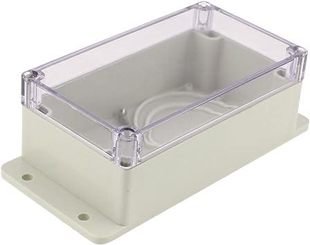 Aexit 158 x 90 x 46 mm Cubierta transparente Caja de conexiones impermeable Caja de terminales (model: F6397VIX-5589GK) Caja de conexiones: Amazon.es: Bricolaje y herramientas