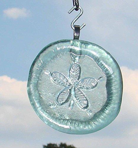 Sand Dollar Upcycled Glass Coke Bottle Bottom Handmade Ornament Sun Catcher