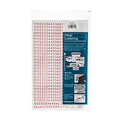 Chartpak Self-Adhesive Vinyl Numbers, 1/4 Inch High, Red, 718 per Pack (01102): Office Products
