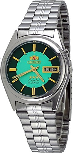 Orient #BEM6Q002N Men's 3 Star Stainless Steel Green Dial Automatic Watch