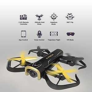 ATTOP RC Quadcopter Drone GPS FPV RC Drone with Camera Live Video and GPS Return Home Quadcopter with Gravity Sensor Mode and Adjustable Wide-Angle 720P HD WIFI Camera by ATTOP