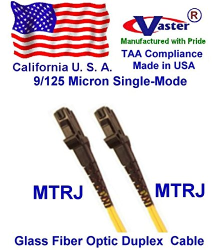 Made in USA, 1500 Ft SM 9/125 MTRJ to MTRJ Duplex (2 Strand) Single-Mode Standard Zipcore - PVC - Color - Yellow