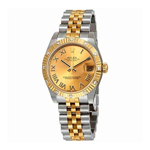 Rolex Datejust 31 Champagne Dial Automatic Diamond Ladies Jubilee Watch 178313CRJ