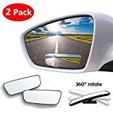 Blind Spot Mirror, 2 Pcs Square No Blind Spot Mirror for All Universal Vehicles Car Side Convex Rear View Mirror Wide Angle Blind Spot Mirror Fit Stick-on Design