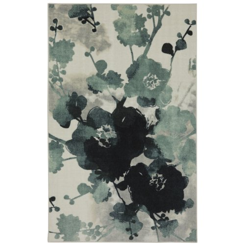 Mohawk Home New Wave Stream Of Blues Floral Printed Area Rug,  5'x7',  Blue