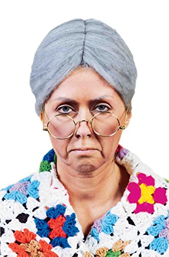 [Forum Old Lady Wig, Grey, One Size] (Old Grandma Costumes)