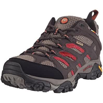Merrell Men's Moab Gore-Tex Hiking Shoe, Dark Chocolate,7 M US