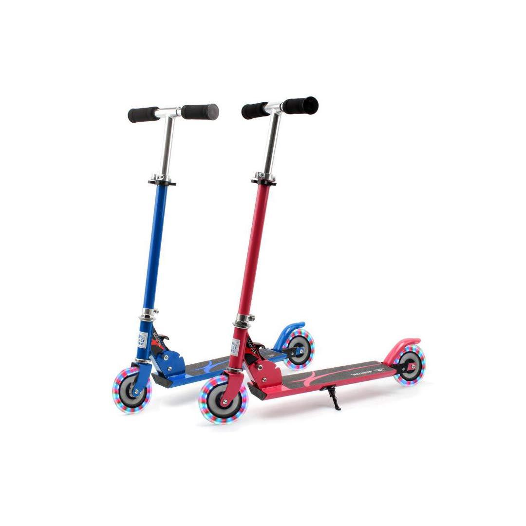 安い割引 TLMYDD Pink) 男の子と女の子のための子供の二輪スクーター折りたたみスクータースクータースクーター 子供スクーター (色 : Pink) B07NMMHMRW 青 : 青 青, モアコスメ:c494d85b --- a0267596.xsph.ru