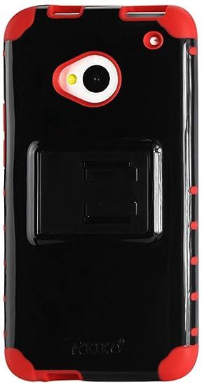 best service b0491 51ce1 Amazon.com: Reiko Slim Hybrid Case with Kickstand for HTC One M7 ...