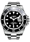 Gosasa Men's Stainless Steel Sapphire Automatic Mechanical Watch Rotating Bezel Professional Dive Bracelet Watch