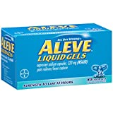 Aleve Liquid Gels with Naproxen Sodium, 220mg (NSAID) Pain Reliever/Fever Reducer, 80 Count (Pack of 2)