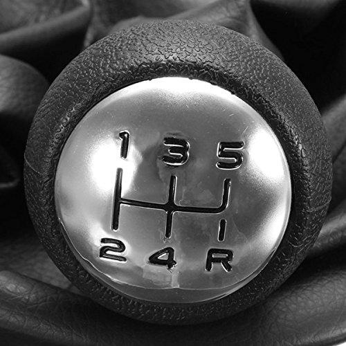 FeLiCia Kfz-Schaltknopf 5 Geschwindigkeit Mit Gaitor Complete Fit F/ür Peugeot 207 307 307 Cc 308