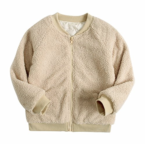 Sanlutoz Fleece Zip Girls Coat Winter Warm Kids Jacket Long Sleeve Fashion Clothing (3-4 years/110cm, KTW7181) by Sanlutoz