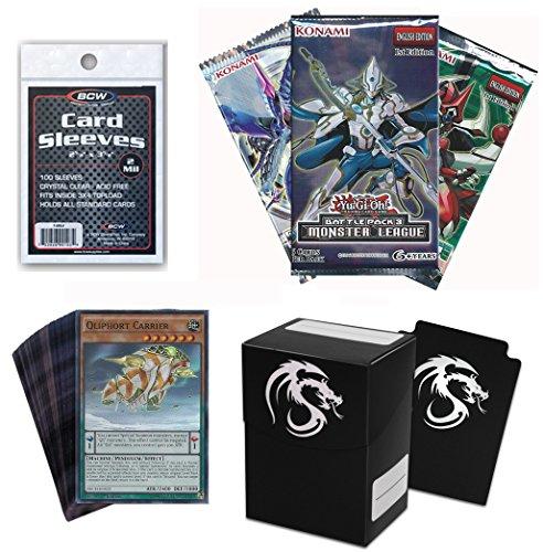 60 YuGiOh! Cards Pack No Duplicates w/ Pendulum Monster + Booster + Deck Box