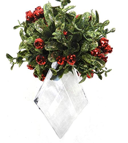 - Mini Mistletoe Krystal Ornament - Red - Marquis