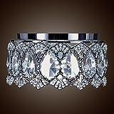 SwanHouse Flush Mount Pendant Ceiling Lighting Chandelier Silver Modern Lamp KQP W12 x H10 For Sale