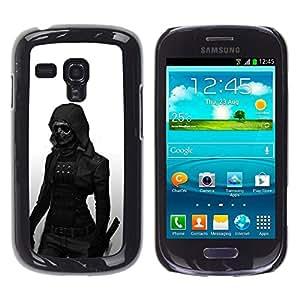 All Phone Most Case / Oferta Especial Duro Teléfono Inteligente PC Cáscara Funda Cubierta de proteccion Caso / Hard Case Samsung Galaxy S3 MINI 8190 // Dark Goth Woman