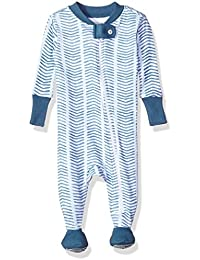 Baby Boys' Soft Organic GOTS Certified All Over Print Zip Front Non-Slip Footed Sleeper Pajamas (Newborn - 24 Months)